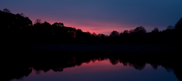 Beatiful sunset at Seneca Creek State Park, Germantown, Maryland, USA.