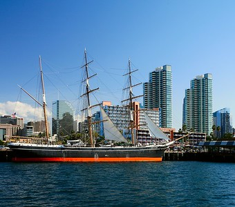 Star of India, built in 1863 as Euterpe. Loacated in San Diego, California, USA.