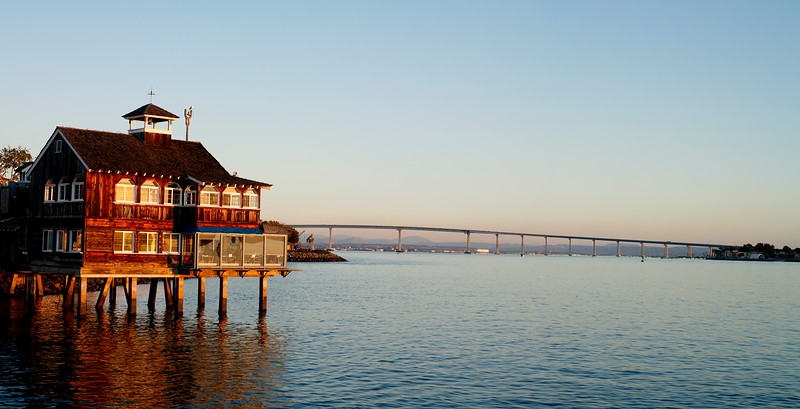 View of San Diego - Coronado Bay Bridge, California, USA.