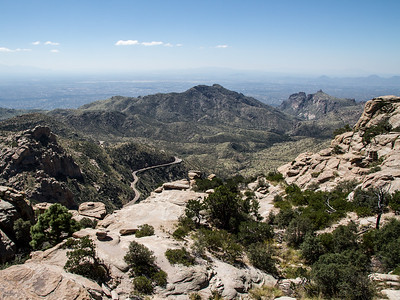 One of the views of Tucson and the Catalina Highway as it climbs the mountain.