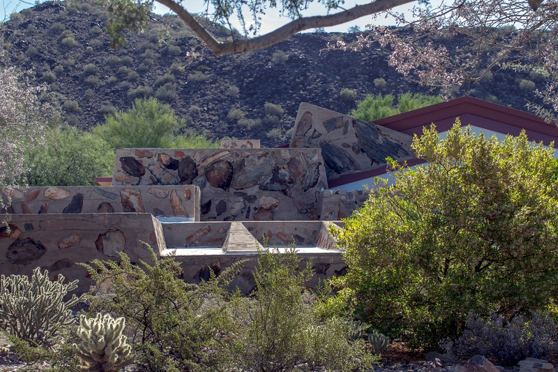 Taliesyn West was Frank Lloyd Wright's winter home and school for architects.