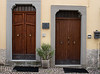 Some of the doors in Agnone have embossed copper plates on the bottom.