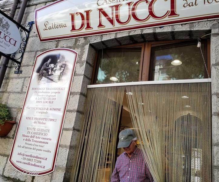 Shop of the Di Nucci cheesemakers in Agnone.