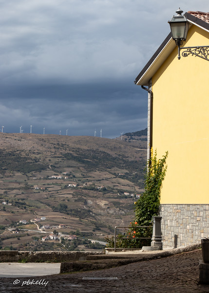 Wind turbines line the tops of many hills in Molise, and solar panels appear in unexpected places.