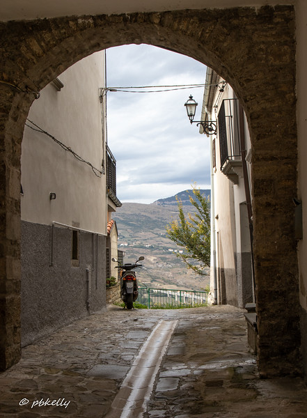 View through one of the many alleys.