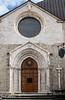 Beautiful Gothic facade of St Emidio's church.