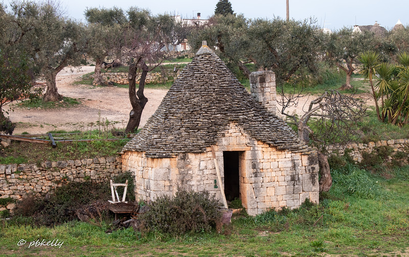 A shed, still in use.  This was probably the use for the original Trulli.
