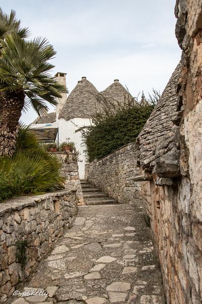 Path through the Trulli.