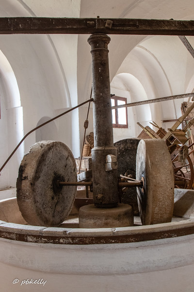 Masseria Brancati has a museum of farming methods.  This is an olive oil press from the 1800's.  Turned by a donkey.
