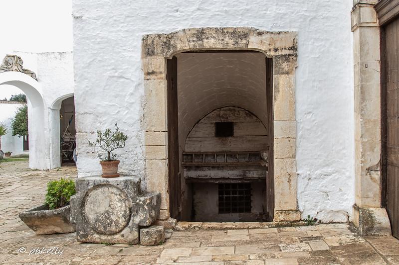 Doorway to an ancient underground workshop.