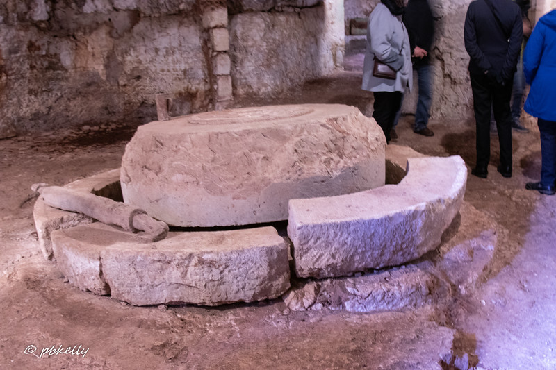 Oil press from the Roman era or possibly before.