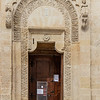 Matera Cathedral Door.  Monks adorn the sides of this one