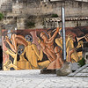 A mural outside a restaurant in the Sassi area.  It really stood out in an otherwise relatively colorless vista.