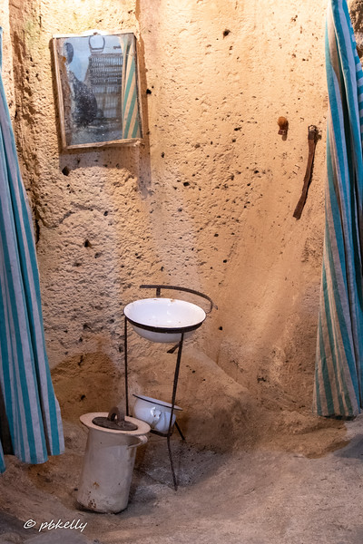 This was in a museum showing what life was like in the old Sassi dwellings.  The light was so dim, that this was the only usable shot-the bathroom.