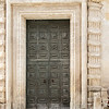 The door to the Chiesa  del Purgatorio in Matera.