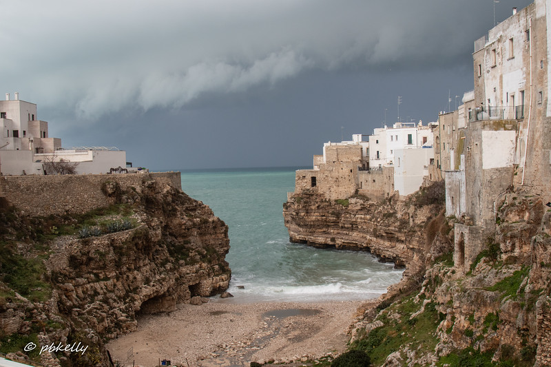 Polignano a Mare, a picturesque seaside town.  I was very happy this was the off season!