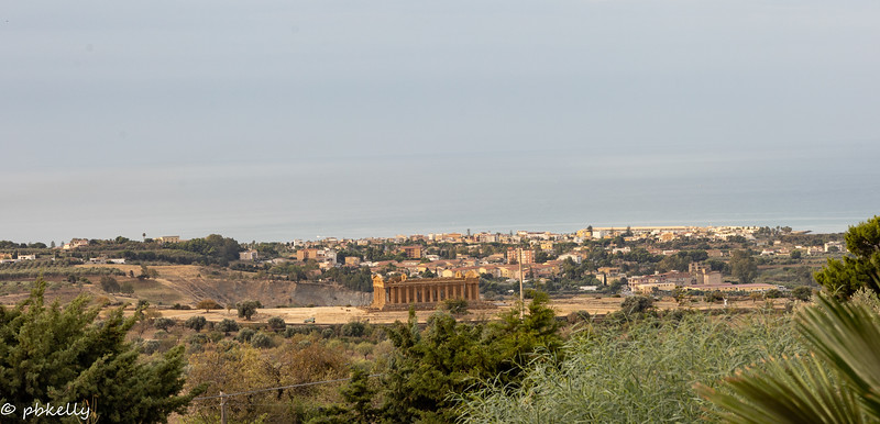 View from the garden in my hotel in Agrigento.