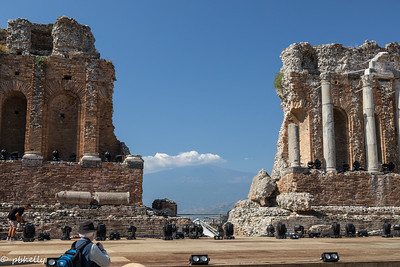 091421.  Greek Amphitheatre with view in Taormina.