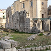 Ruins of the Temple of Apollo in Siracusa.