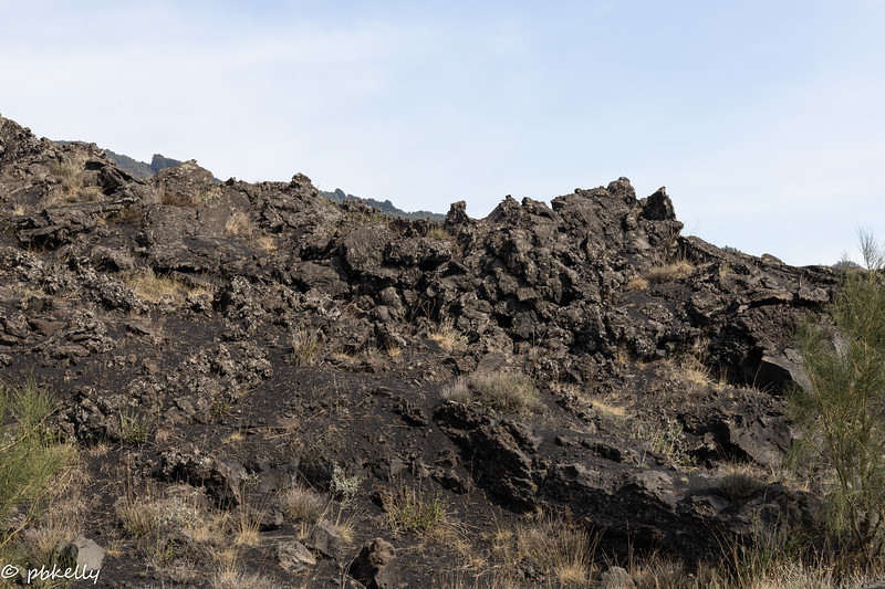 Signs of Lava flow.