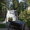 War memorial in the public garden.