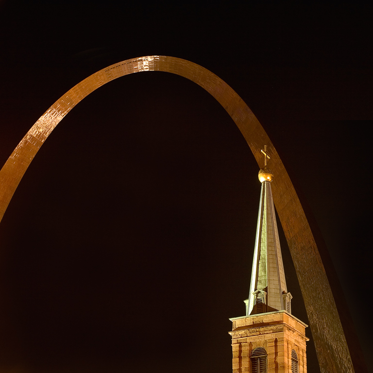 Arch and Church Steeple