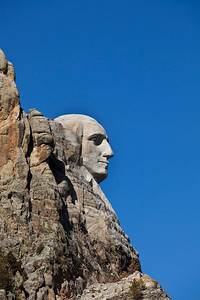 George Washington profile at Mount Rushmore.