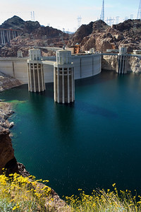 Hoover Dam overlook from Lake Mead side.