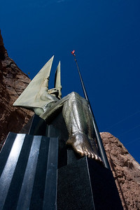 Statue at Hoover Dam.