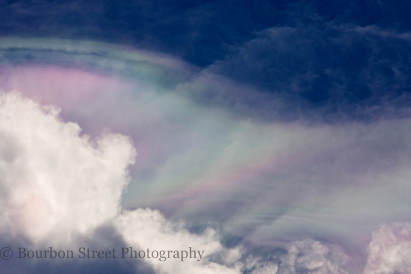 Iridescence (irisation) in Pileus Clouds