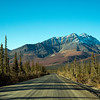 The Dalton Highway heading south toward Coldfoot after Attigan Pass.