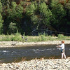 Credit: Chena Hot Springs Resort<br /> <br /> Fly fishing on the Chena River in the Chena River State Recreation Area.