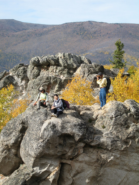 Credit: Explore Fairbanks<br /> <br /> Hikers are rewarded with a grand view from the top of Angel Rocks in the Chena River State Recreation Area.