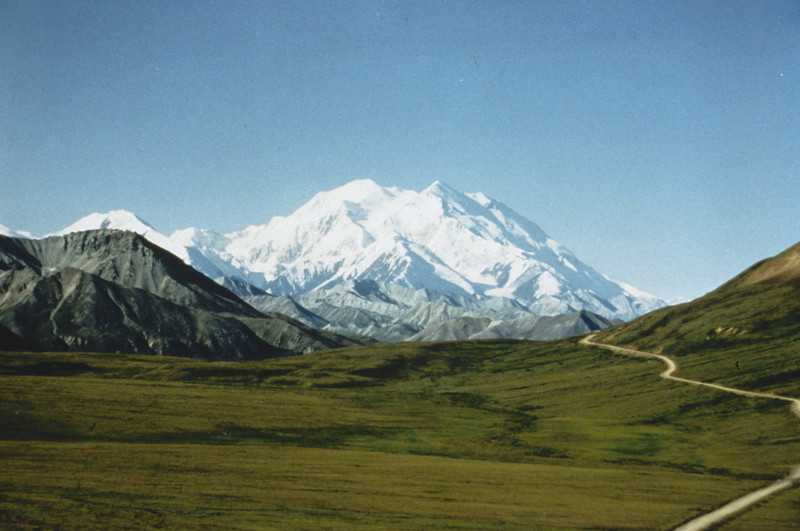 A view of Mt McKinley from within Denali National Park and Preserve.