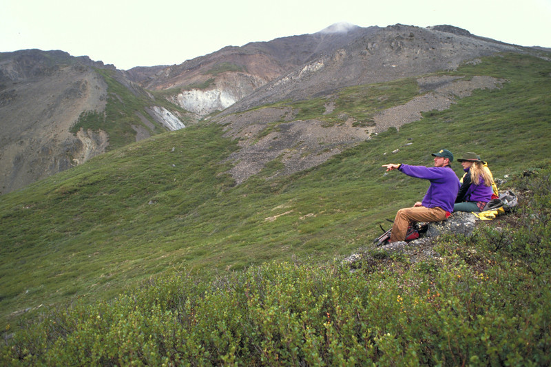 Hikers in Denali National Park and Preserve.