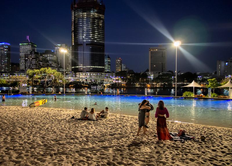 Southbank At Night Brisbane (1)