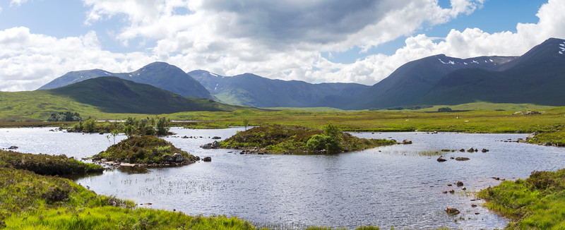 Rannoch Moor with the Black Mount range in the background
