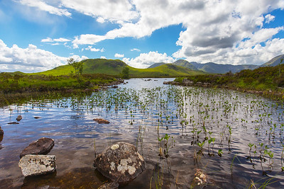 Rannoch Moor a boggy moorland situated in the Central Highlands