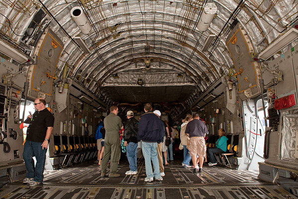 Cargo bay of a C-17 Globemaster III<br /> 2011 Cleveland National Air Show