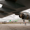 Under the wing of a C-17 Globemaster III