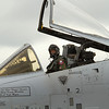 A pilot getting ready to show the A-10 Thunderbolt III capabilities in front of the Sunday crowd<br /> 2011 Cleveland National Air Show
