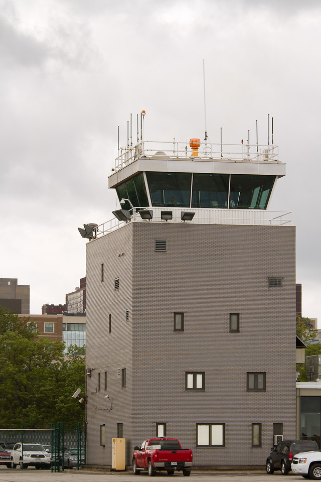 Control tower at Burke Lakefront Airport<br /> 2011 Cleveland National Air Show