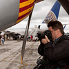Doug Hupfer getting some detail shots of the P-51 Mustang<br /> 2011 Cleveland National Air Show