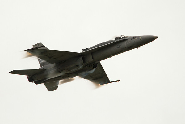 High speed fly-by of a F-18 Hornet<br /> 2011 Cleveland National Air Show