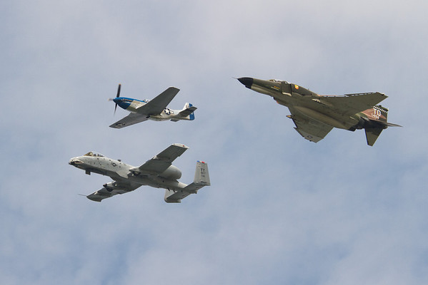 The A-10, P-51 Mustang, and F-4 Phantom