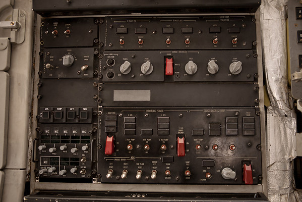 Switchboard on a MH-60 submarine hunter<br /> 2011 Cleveland National Air Show