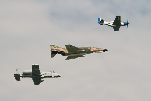The A-10, F-4 Phantom and the P-51 Mustang