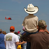Watching the Coast Guard performing a rescue demonstration.<br /> Cleveland National Air Show 2010