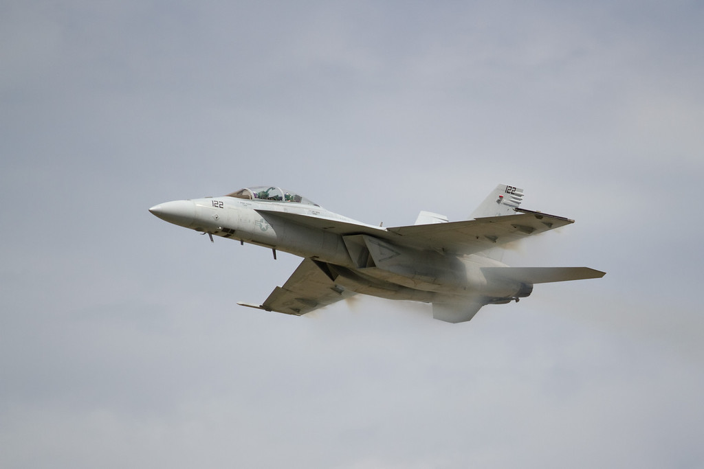 This is what is looks like travelling at 700mph.  Just a little under supersonic (Mach 1).<br /> Cleveland National Air Show 2010
