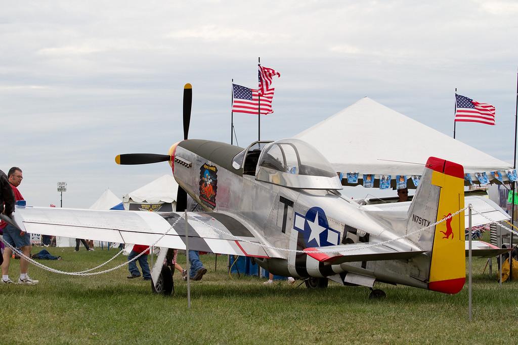 P51 replica<br /> Cleveland National Air Show 2010